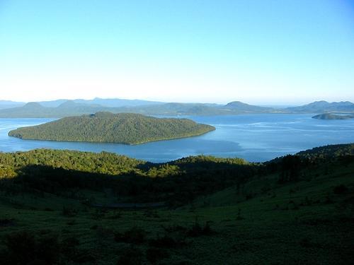 夏の屈斜路湖