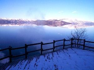 屈斜路湖和琴半島の展望台